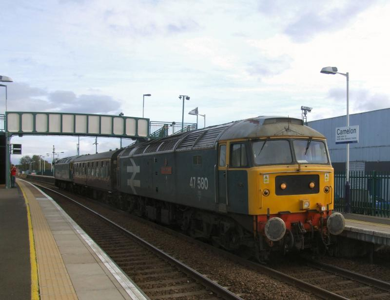Photo of 47580 & 270 T&T with 5Z22 Bo'ness - Carnforth.