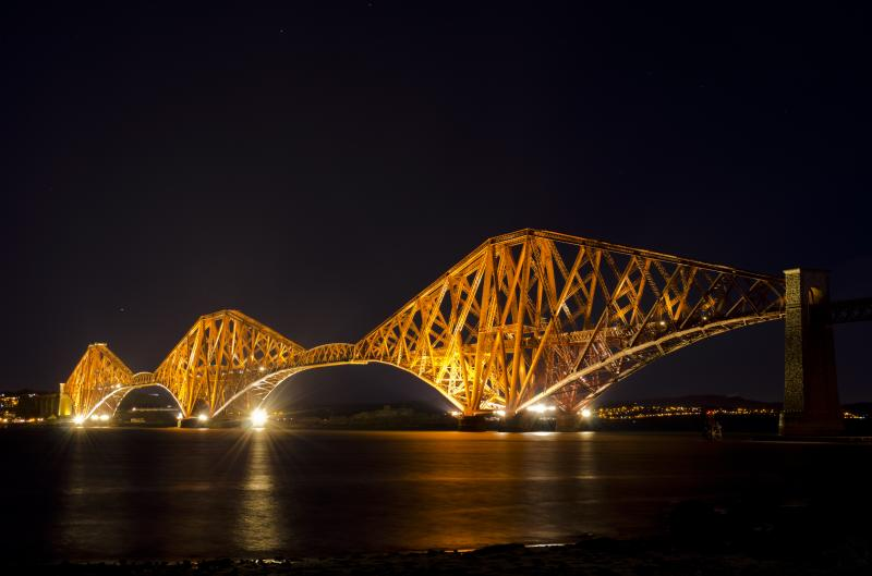 Photo of Forth Rail Bridge lit up!