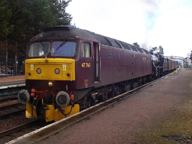Photo of 47760 at Kingussie.