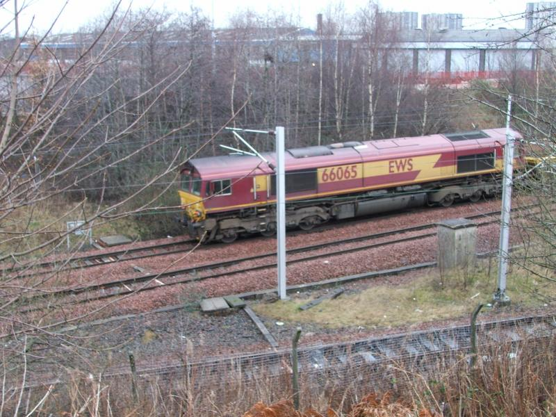 Photo of 66065 with spoil 27th Dec