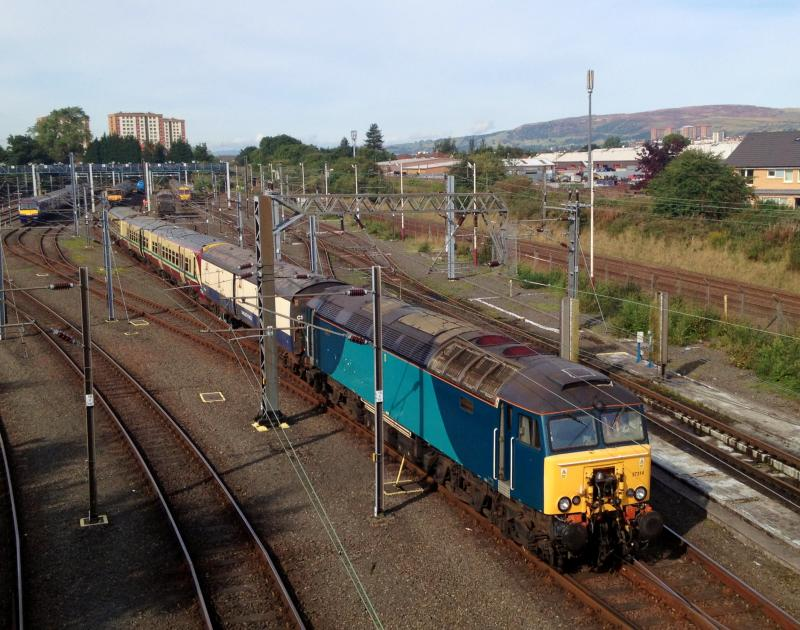 Photo of 57314 shunts 334031 at Yoker EMU depot