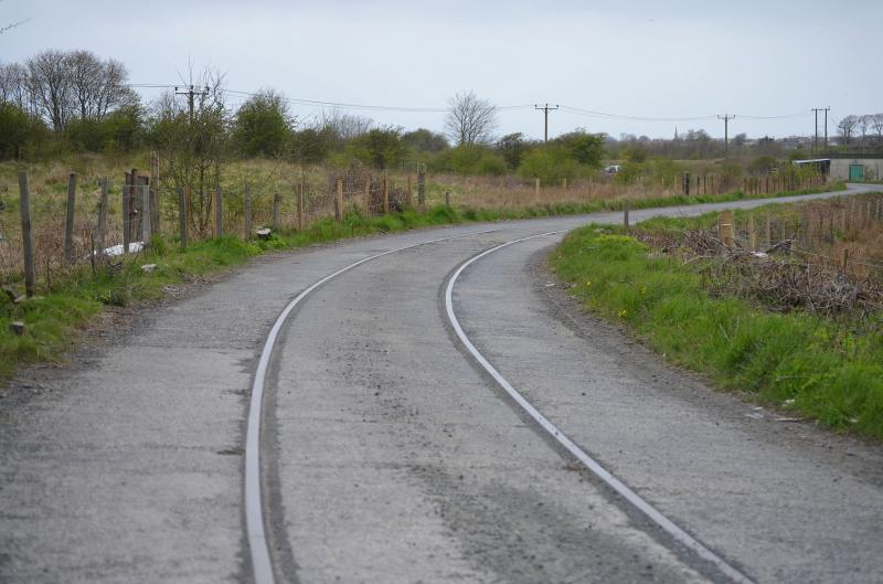 Photo of Trackbed at the ICI Ardeer site in Ayrshire.