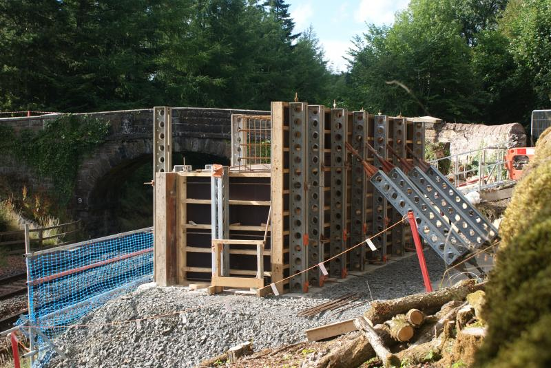 Shuttering For Bridges : Scot rail photo formwork and reinforcing in