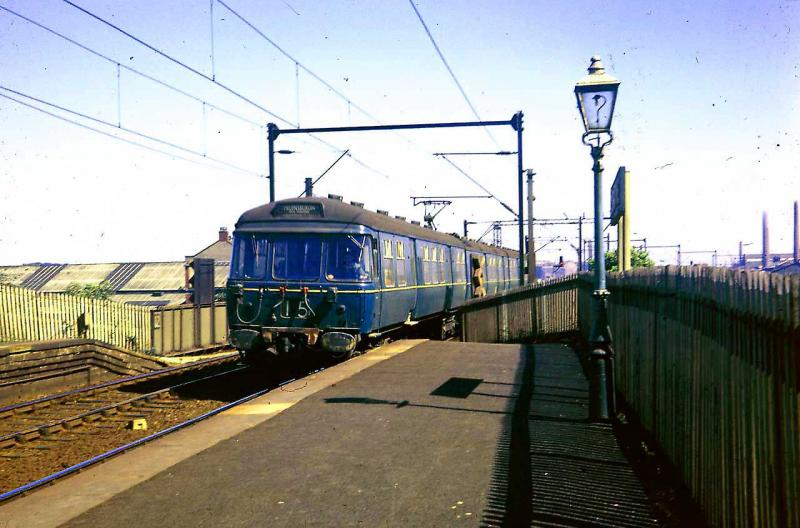 Homepage photo of Blue train at Carntyne