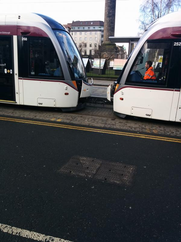 Photo of Double tram at St Andrew Square