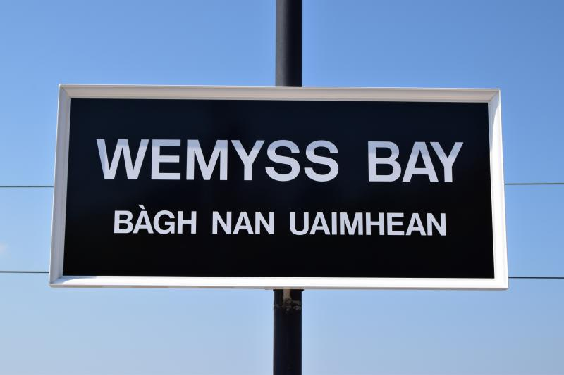 Photo of Wemyss Bay station name sign