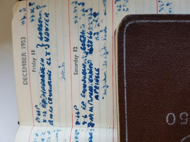 Photo of Diary entry 12/12/1953
