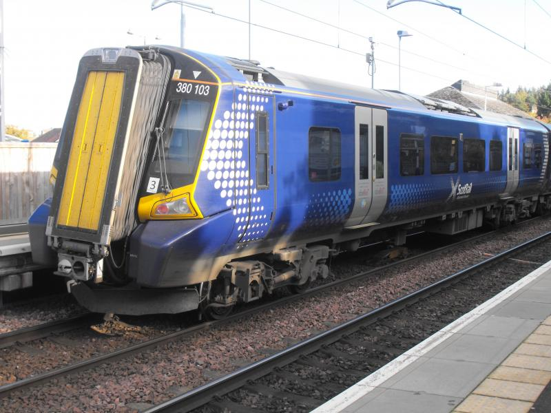 Photo of class 380 unit at Falkirk High