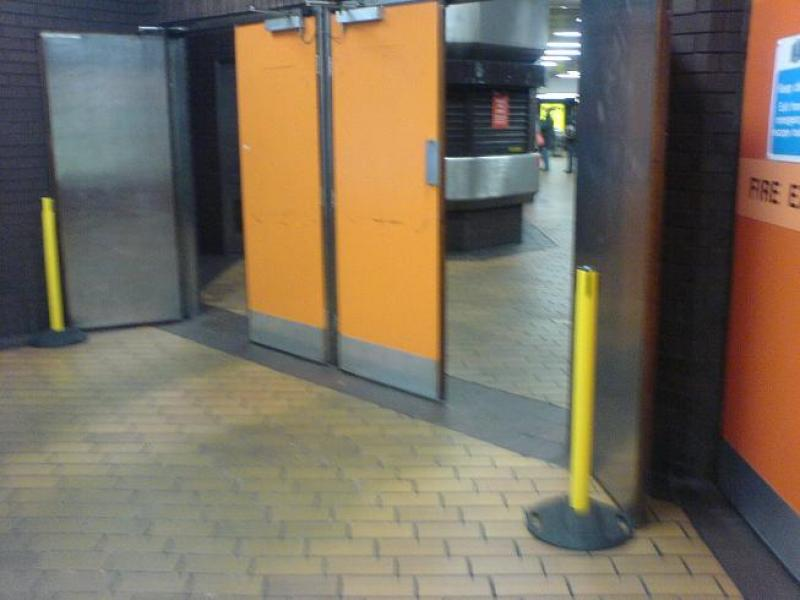 Door Propped Open : Scot rail photo fire doors propped open at