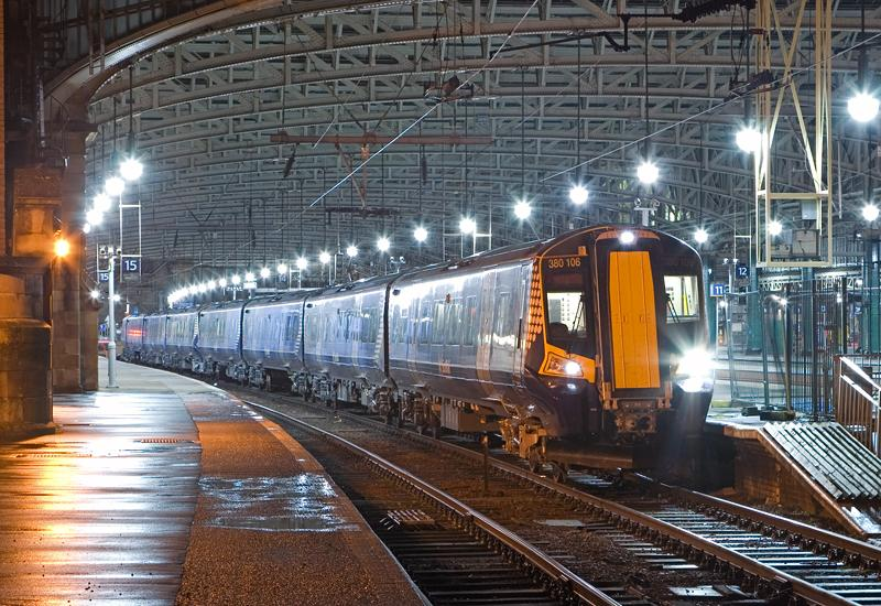 Photo of 380106 ready to roll out of Glasgow C
