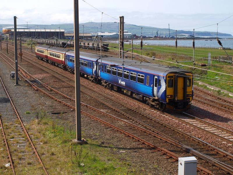 Photo of Ayr Falkland Yard - 156435 + 156495 - 05-05-2010