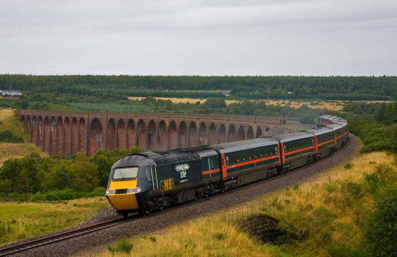 Photo of HST over Culloden Viaduct